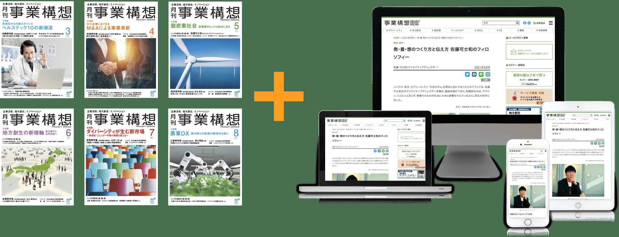 月刊「事業構想」冊子とオンライン版